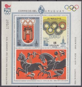 1979 Uruguay 1524-1527/B41 1980 Olympic Games in Moscow 35,00 €