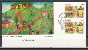 Colombia, Scott cat. 938, C746. Christmas issue. First day cover.