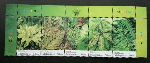 *FREE SHIP Fern Of Malaysia 2010 Flower Plant Flora (stamp color code) MNH