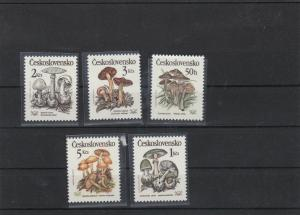 czechoslovakia mint never hinged fungi stamps ref 16755