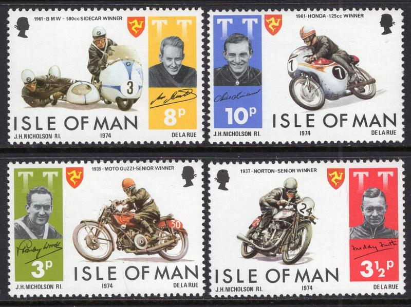 Isle of Man 40-43 Motorcycles MNH VF