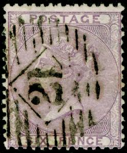 SG70, 6d pale lilac, USED. Cat £110.
