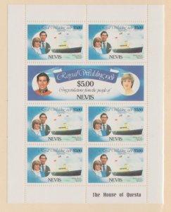 Nevis Scott #139-140 Stamps - Mint NH Souvenir Sheet
