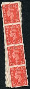 SG507 2 1/2d Pale Scarlet U/M Coil Strip 48 From U8