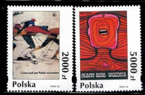 Poland Scott 3182-3183 MNH** Poster Stamp set