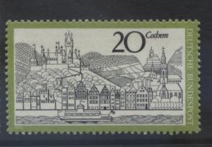 GERMANY. -Scott 1047 -Cochem River - 1970- MNH - Single 20pf Stamp