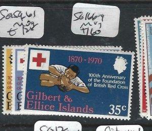 GILBERT & ELLICE ISLANDS   (P2306B)  QEII  RED CROSS SG 159-161   MOG
