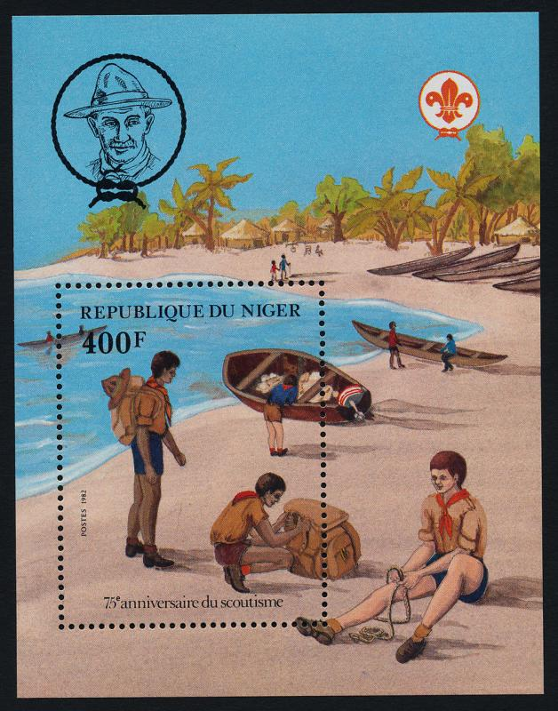 Niger 590 MNH Scouting Year, Canoe, Boat