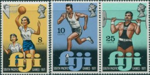 Fiji 1971 SG451-453 South Pacific Games set MNH