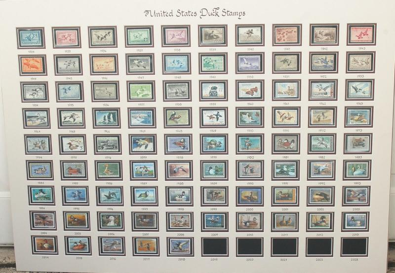 RW1-RW85 (1934-2018) Federal Duck Stamp Corporate Executive Collection  $4000CV