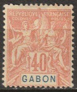 Gabon 1904 Sc 26 Yt 26 MH* partial gum