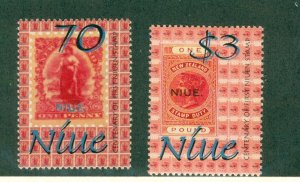 NIUE 753-4 MH CV $3.25 BIN $1.50