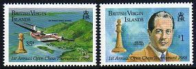 British Virgin Islands SC# 605-06 Mi# 618-19 Chess Tour 1988