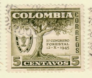 Colombia 1949 5c Fine Used A8P55F106