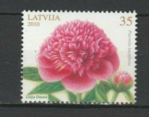 Latvia 2010 Flowers MNH stamp
