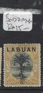 LABUAN (P1303B)  3C TREE POSTAGE DUE SG D2  MNG