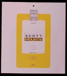 Scott/Prinz Pre-Cut Souvenir Sheets Small Panes Stamp Mounts 190x199 #1000 Clear