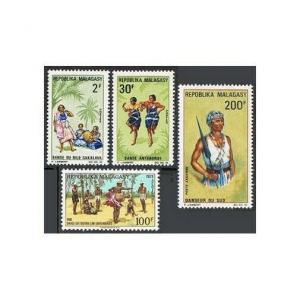 Malagasy 405-C87,MNH.Michel 573-575,593. Dancers 1967-68.Tourbillon dance,Male.