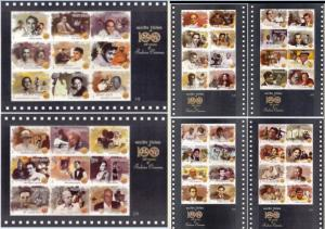 INDIA 2013 100 Years of Indian Cinema, Set of 6 Miniature Sheets, MNH