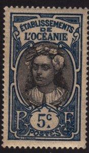 French Polynesia 25 Tahitian Girl 1913