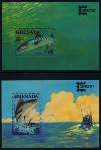 Grenada 1514-5 MNH CAPEX 87, Fish, Tuna, Barracuda