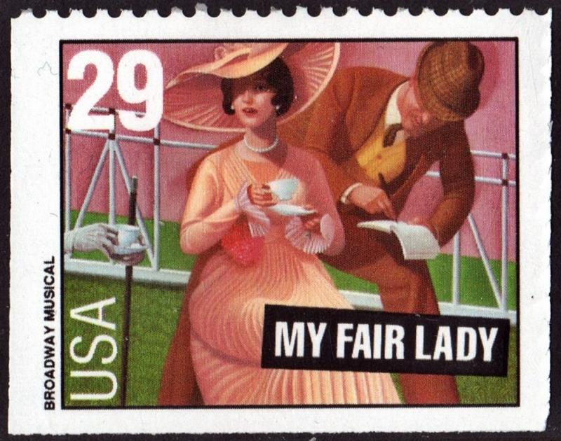 SC#2770 29¢ Broadway Musicals: My Fair Lady Booklet Single (1992) MNH
