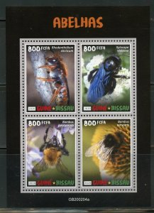 GUINEA BISSAU  2020  BEES SHEET MINT  NH