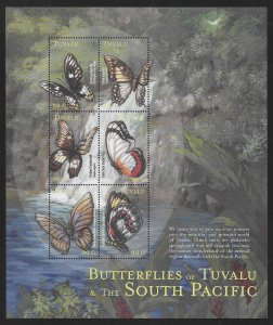 Tuvalu 827 Butterflies of Tuvalu Mini-Sheet MNH c.v. $7.50