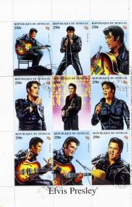 Senegal 1999 Elvis Presley Sheet Perforated Fine Used