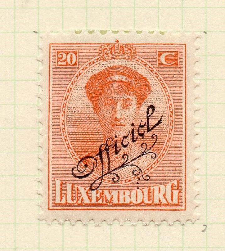 Luxembourg 1921-22 Early Issue Fine Mint Hinged 20c. Official Optd 253200