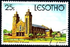 Our Lady's Victory Cathedral, Lesotho stamp SC#316 Used