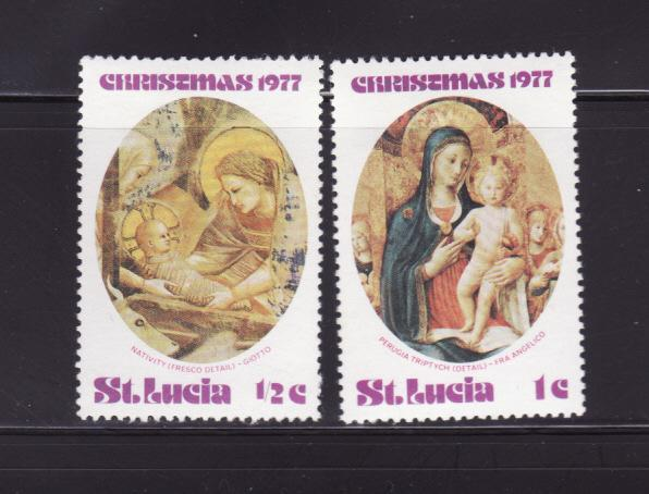St Lucia 427-428 MHR Art, Paintings, Christmas