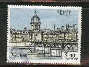 France Scott 1584 used 1978 Institute de France stamp