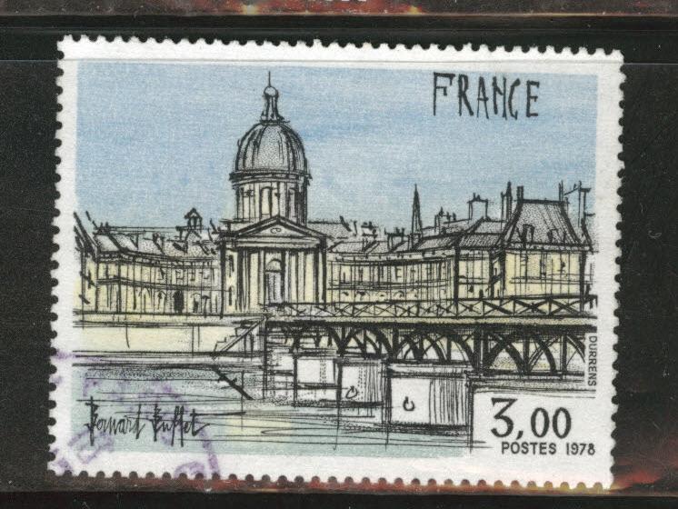 France Scott 1584 used 1978 Institute de France stamp