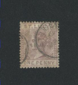 St. Lucia #29 1883-98 used  PD