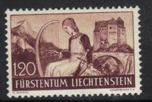 Liechtenstein 1937 MH 1f.20 Minstrel and Gutenberg castle  #