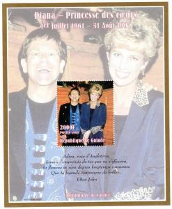 Guinea 1998 YT#124  Diana Princess & Sir Elton John Souvenir Sheet Perf.MNH