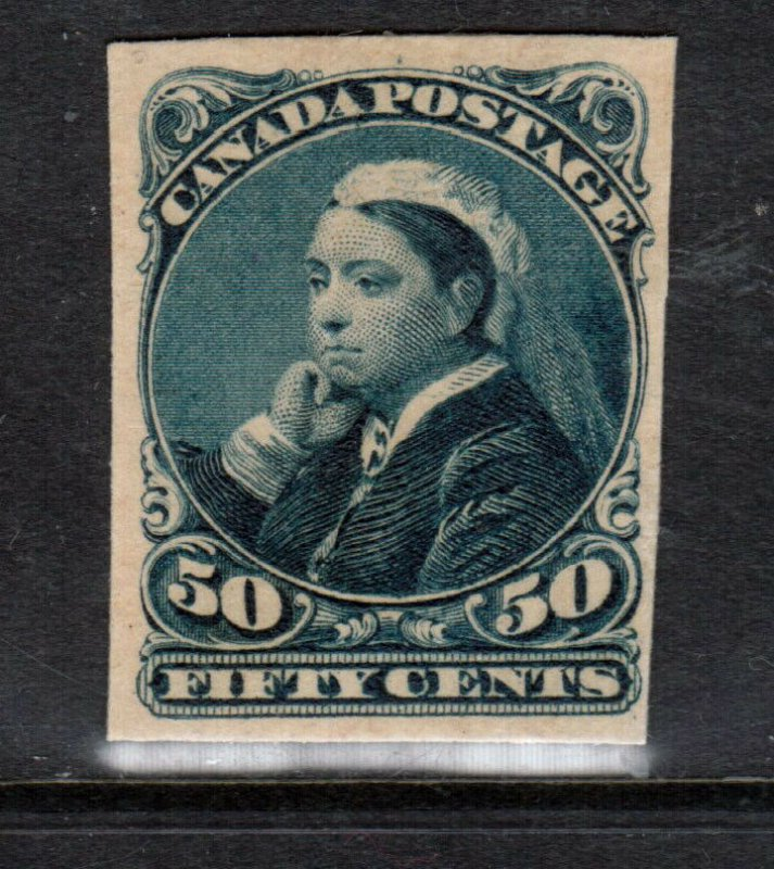 Canada #47P Fine - Very Fine Proof India On Card