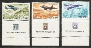 Israel 342-4 1967 Independence Day set Tab NH