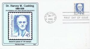 2188 45c DR. HARVEY CUSHING - HOC cachet