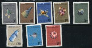 Poland 1966 Mi 1730-7 MNH Spacecrafts