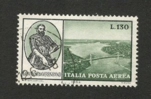 ITALY - USED STAMP -POSTA AEREA , 130 L - 1964.