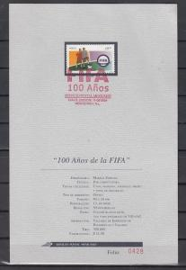 Mexico, Scott cat. 2353. FIFA-Soccer issue. Postal Bulletin. First day cancel.
