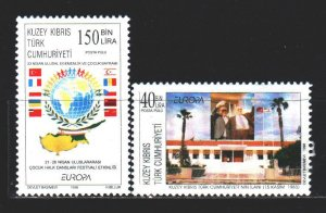 Turkish Cyprus. 1998. 473-74. Holidays and festivals, Europe Sept. MNH.