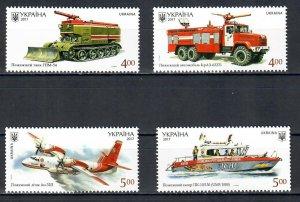 Ukraine 2017 The History of Fire Transport of Ukraine  (MNH)  - Equipment, Firef
