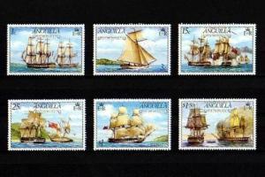 ANGUILLA - 1976 - SAILING SHIPS - WARSHIPS - BATTLE OF ANGUILLA - 6 X MNH SET!