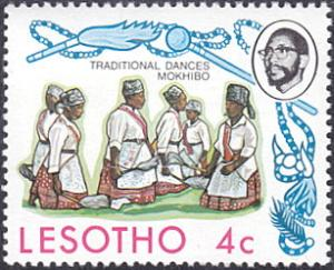Lesotho # 191 mnh ~ 4¢ Mokhibo Women's Dance