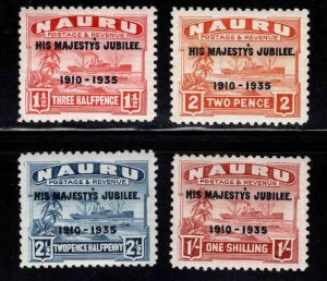 NAURU Scott 31-34  MH* 1935 KGV Jubilee set