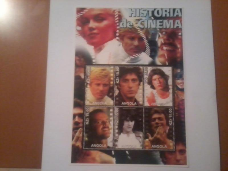 ANGOLA SHEET USED ACTORS ACTRESSES CINEMA STARS MOVIES FILMS