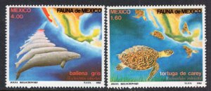 Mexico 1281-1282 Tutles Whales MNH VF